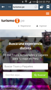 Usa Turismoi.pe desde tu movil