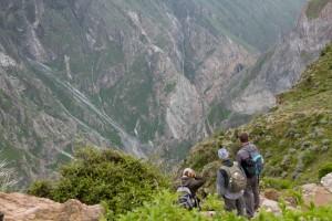 Turistas en el Colca