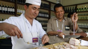 Feria Gastronómica Mistura - Preparación de Butifarras