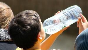 Lleva por lo menos una botella de agua